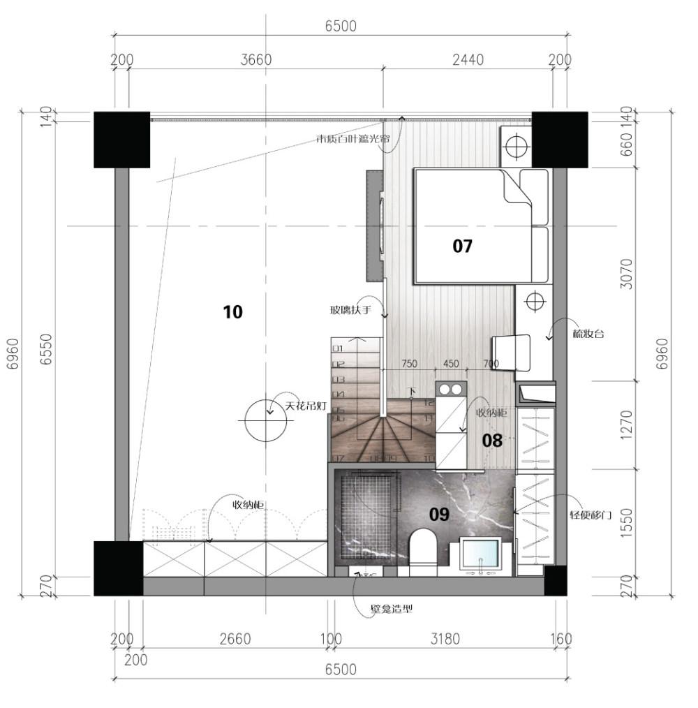 【第九期-住宅平面优化】一个40m²loft户型11个方案 投票奖励DB_07-2.jpg