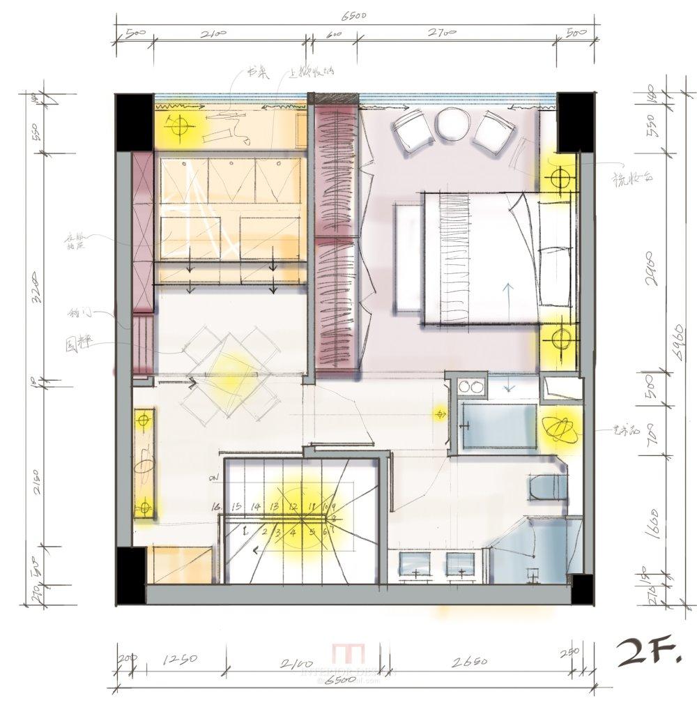 【第九期-住宅平面优化】一个40m²loft户型11个方案 投票奖励DB_08-2.jpg