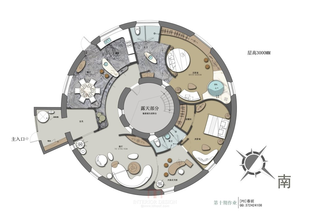 【第十期-住宅平面优化】一个圆形户型15个方案 投票奖励DB_01.jpg