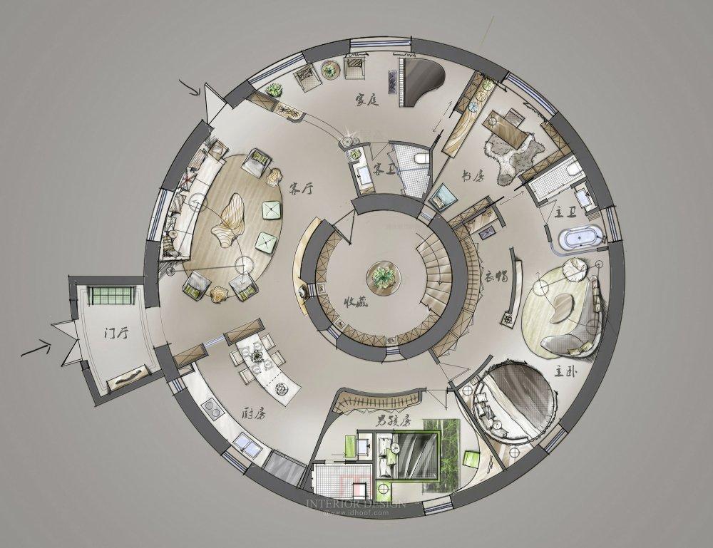 【第十期-住宅平面优化】一个圆形户型15个方案 投票奖励DB_02.jpg