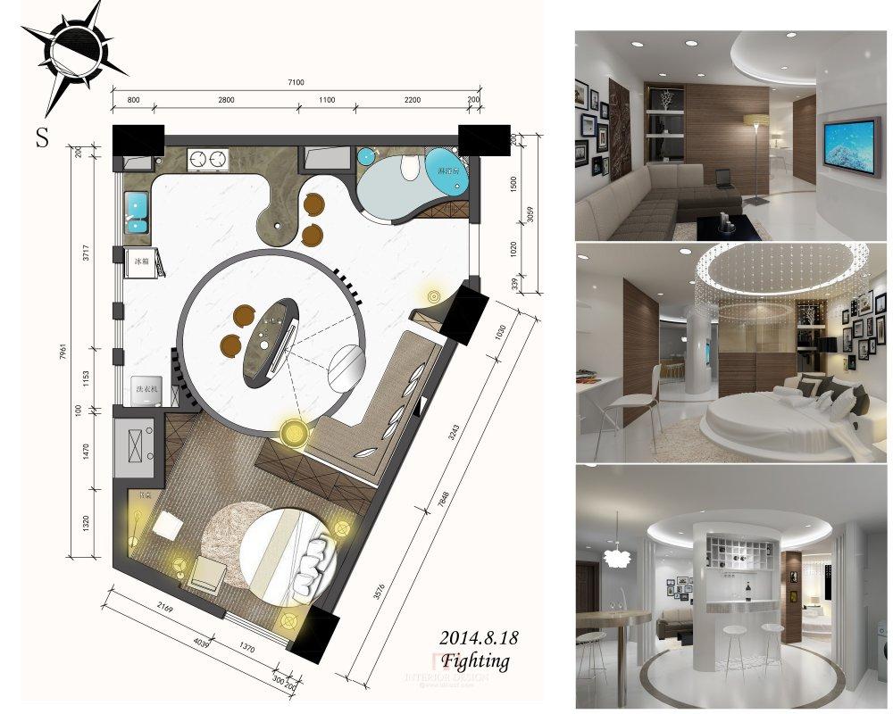 【第11期-住宅平面优化】一个异形小户型14个方案 投票奖励DB_04.jpg