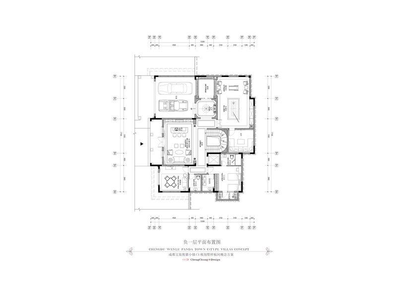 2014最新名师作品!全平面 !超级豪华 法式风格别墅_4负一层平面图.jpg