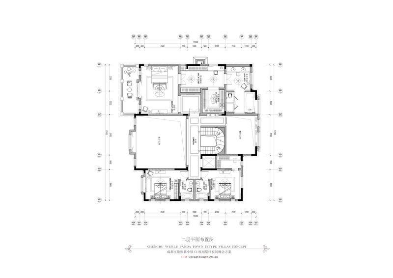 2014最新名师作品!全平面 !超级豪华 法式风格别墅_6二层平面图.jpg