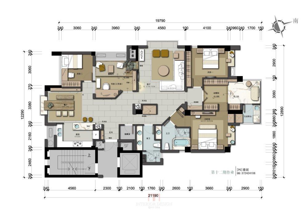 【第12期-住宅平面优化】漫画家的住宅9个方案 投票奖励DB_04.jpg