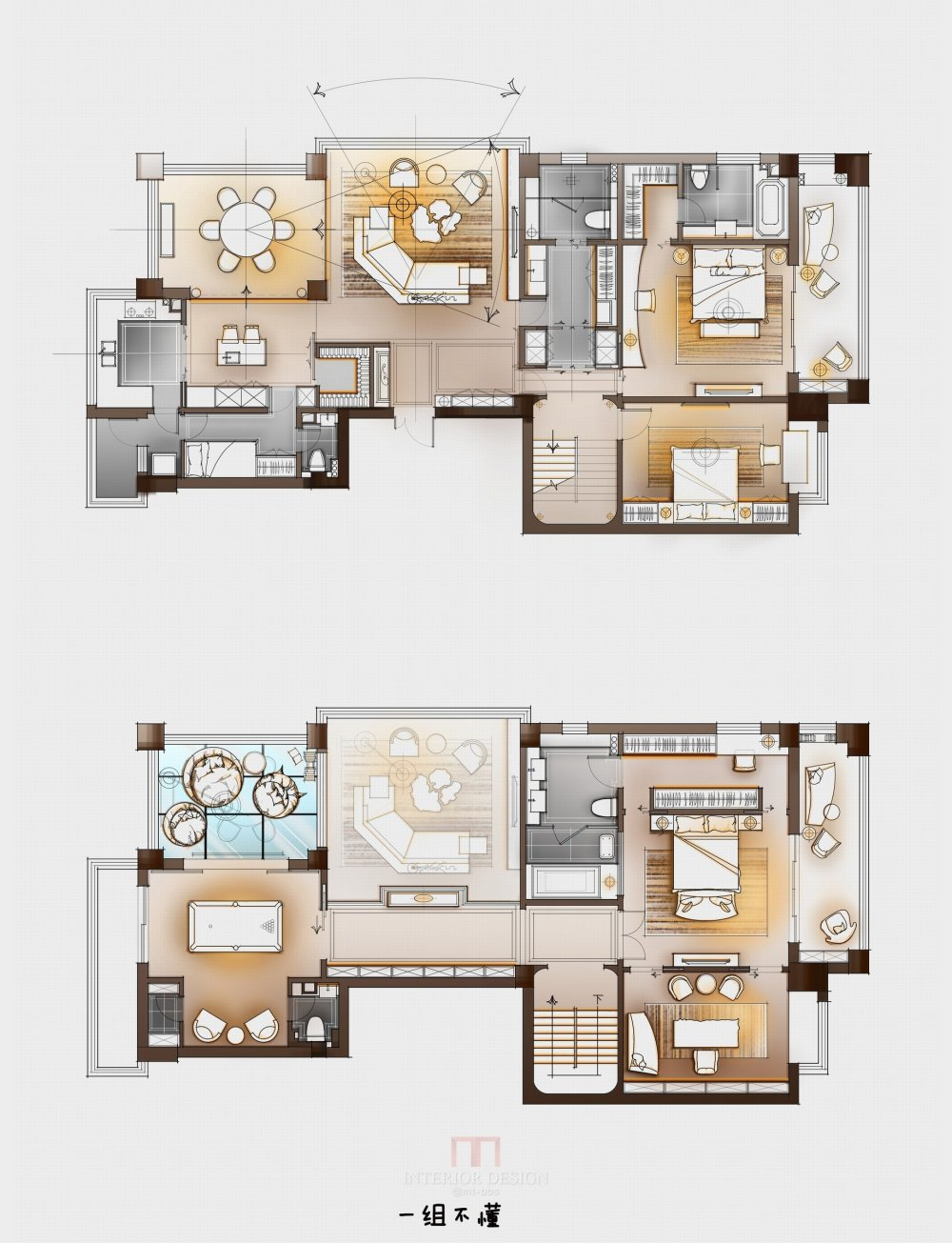 【第13期-住宅平面优化】一个390m²跃层住宅11个方案 投票奖DB_02.jpg