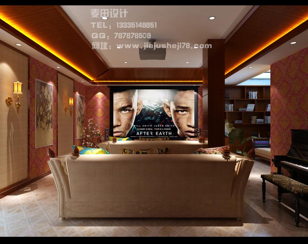 麦田空间设计--东南亚风格别墅效果图_负一2.jpg