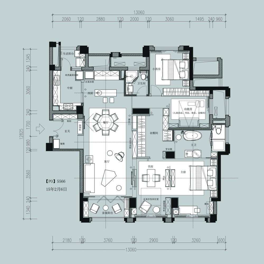 【第15期-住宅平面优化】一个150m²平层16组方案 投票奖励DB_【06】a.jpg