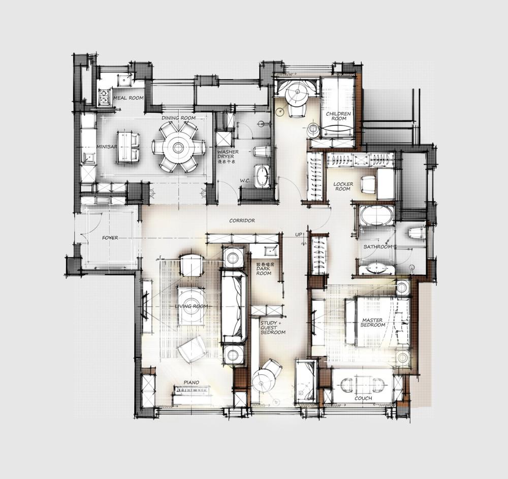 【第15期-住宅平面优化】一个150m²平层16组方案 投票奖励DB_【07】.jpg