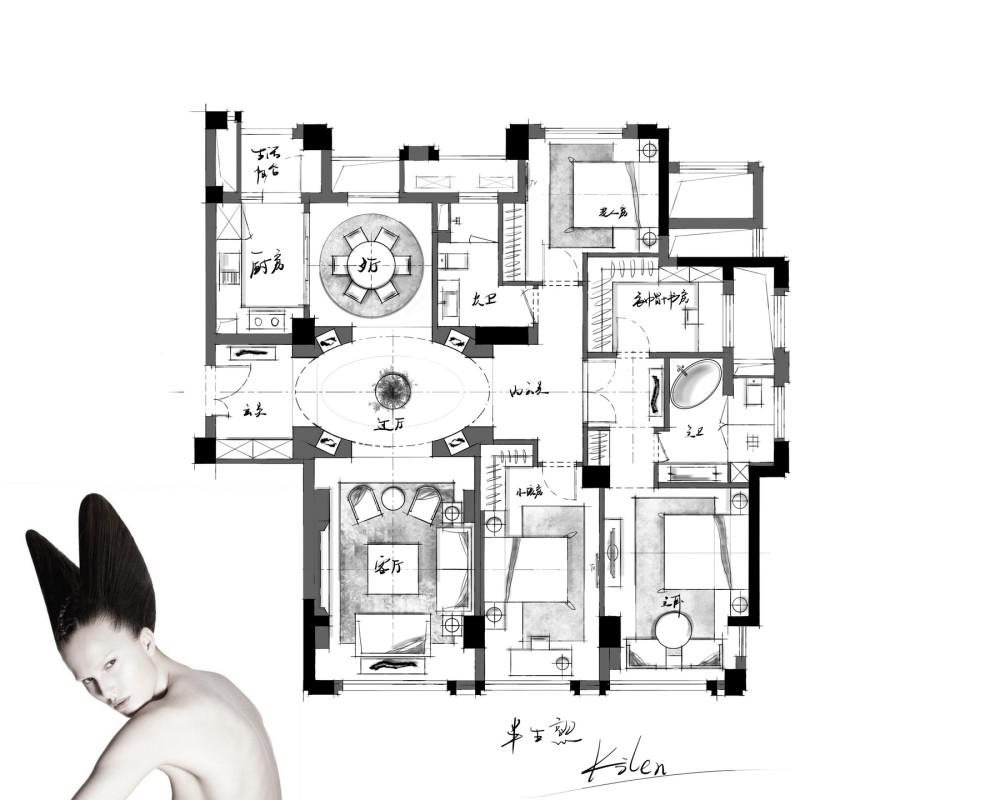 【第15期-住宅平面优化】一个150m²平层16组方案 投票奖励DB_【08】b.jpg