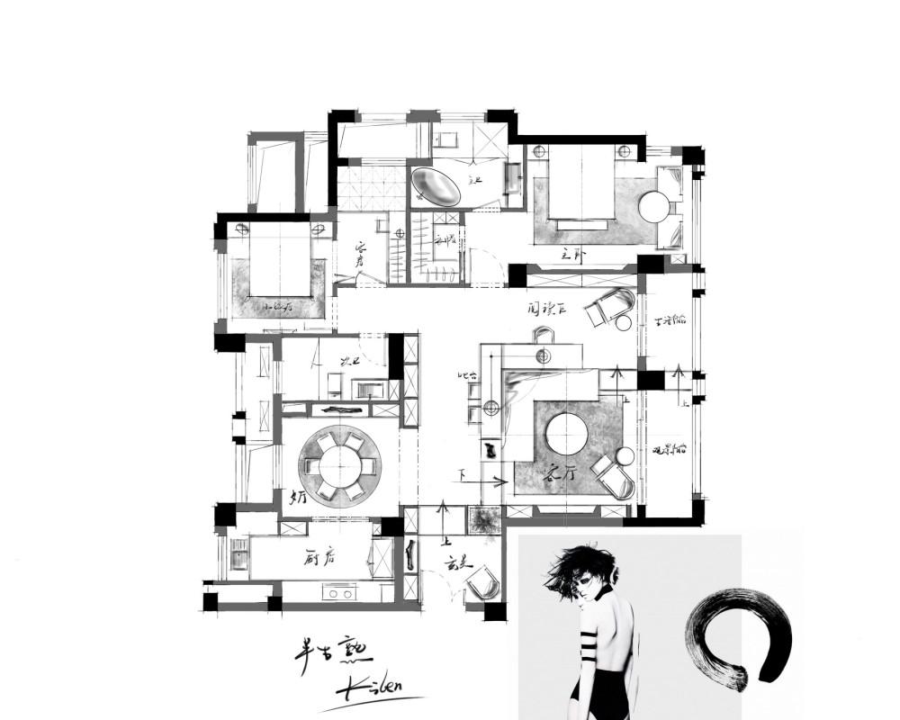 【第15期-住宅平面优化】一个150m²平层16组方案 投票奖励DB_【08】c.jpg