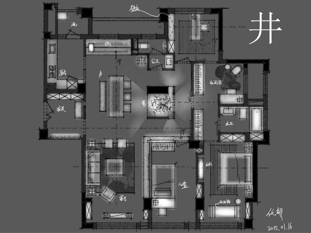 【第15期-住宅平面优化】一个150m²平层16组方案 投票奖励DB_【12】.jpg