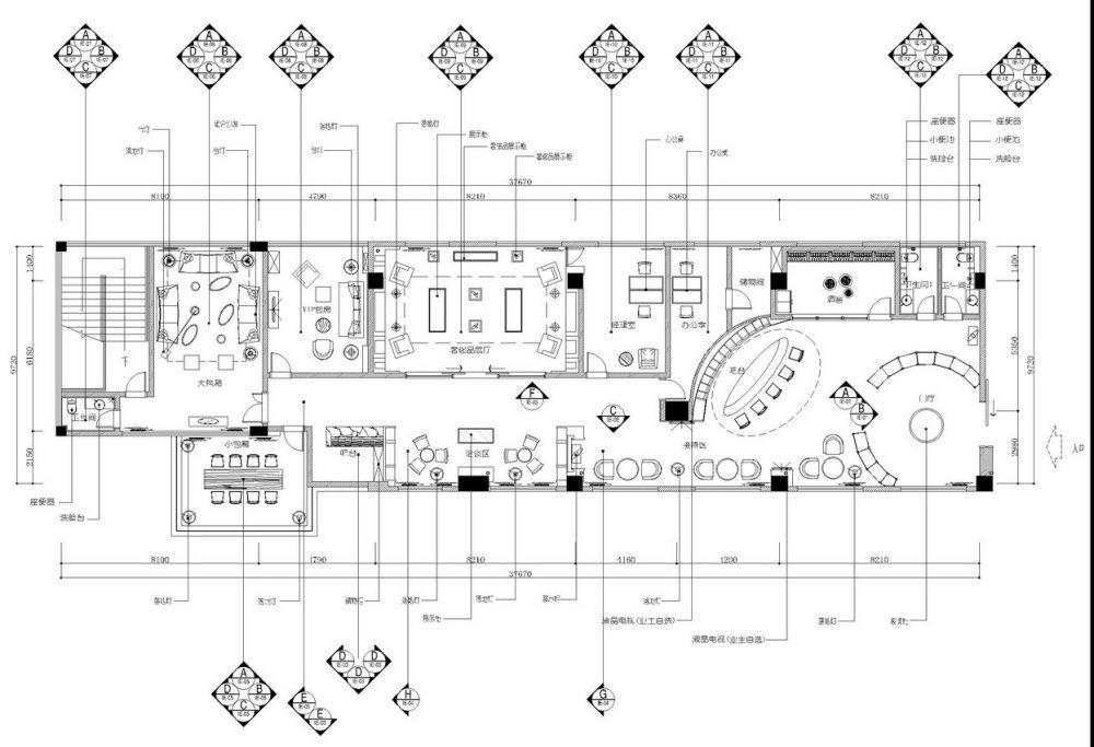 世贸外滩红酒会所施工图+效果图_004平面图.jpg