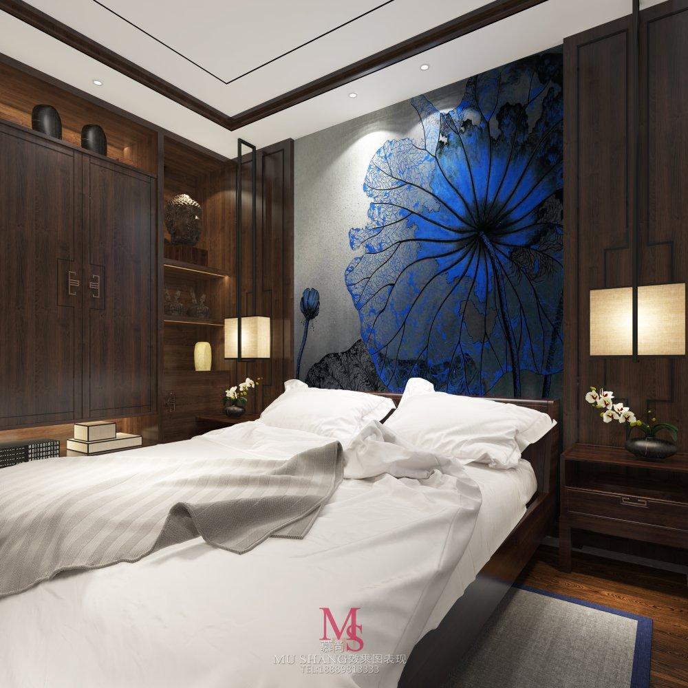 慕尚效果图表现2015年作品第一季_泰达二楼卧室床头副本.jpg