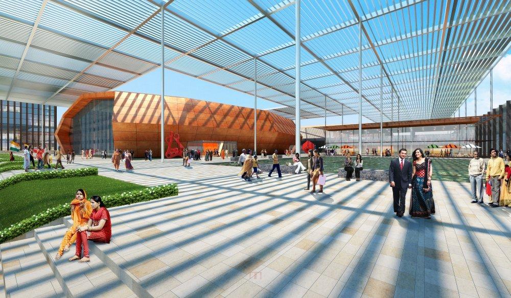 伍兹贝格建筑设计公司_India_Bhubaneswar_Convention_Center-3.jpg