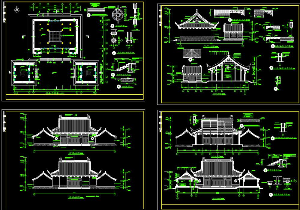 中国古代建筑CAD施工图纸源文件(非扫描) 设计素材_QQ截图20150521152414.jpg