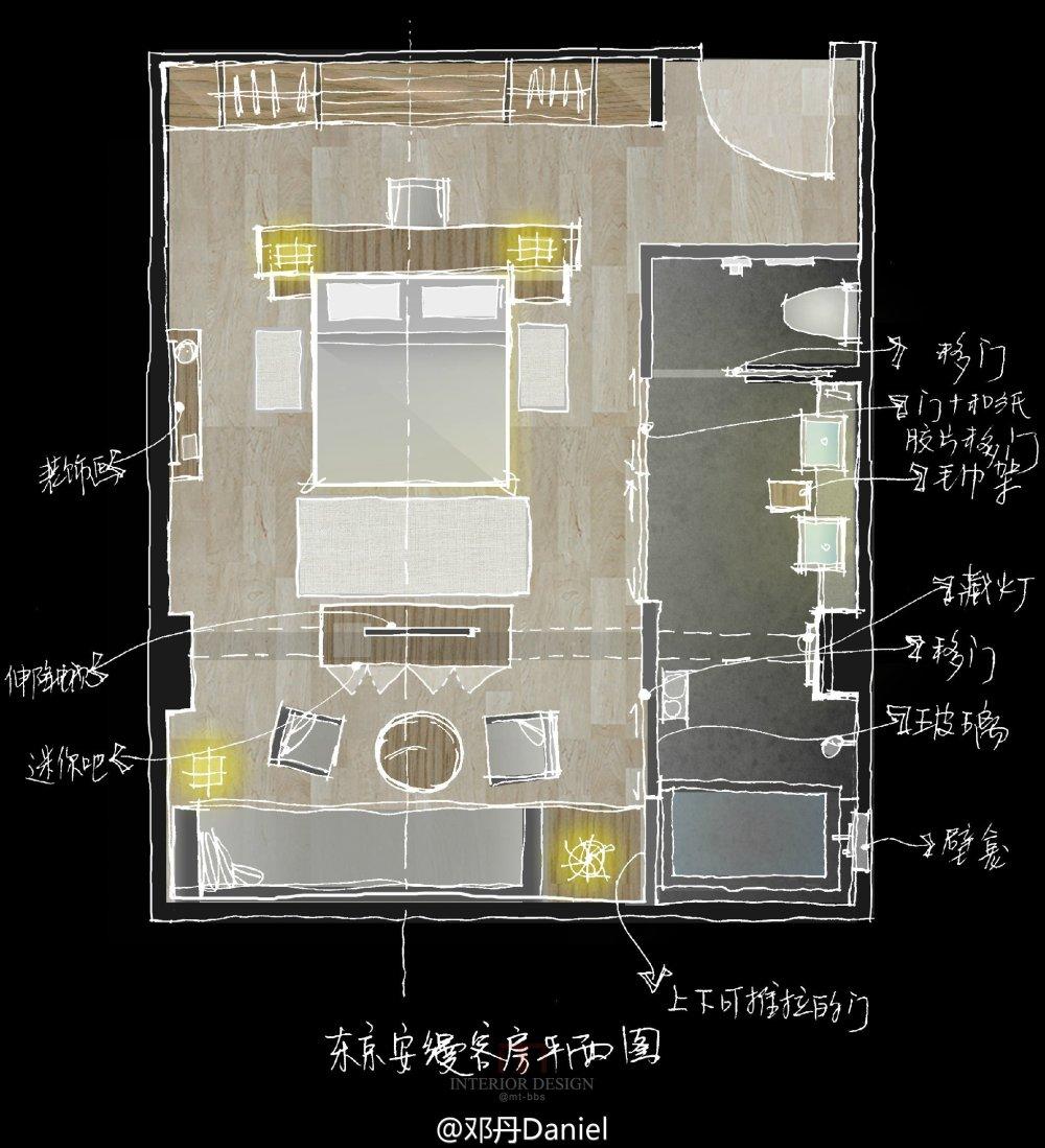 东京安缦酒店Aman Tokyo --Kerry Hill  自拍分享_安缦客房平面.jpg