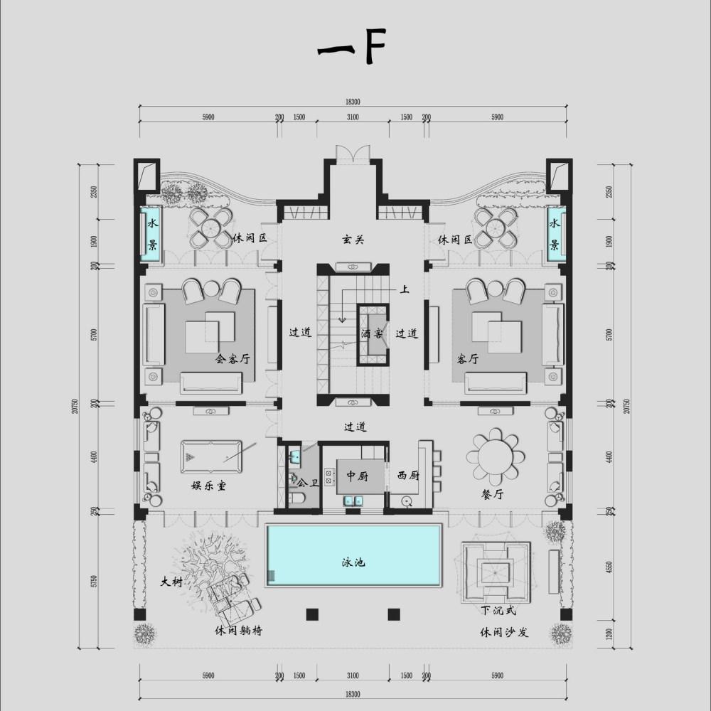【第17期-住宅平面优化】一个跃层豪宅14个方案 投票奖励DB_02a.jpg