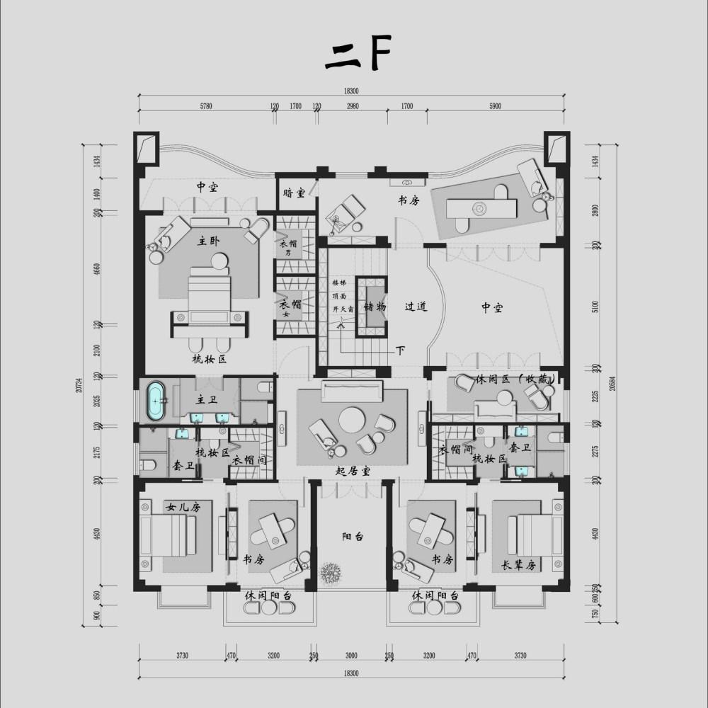 【第17期-住宅平面优化】一个跃层豪宅14个方案 投票奖励DB_02b.jpg