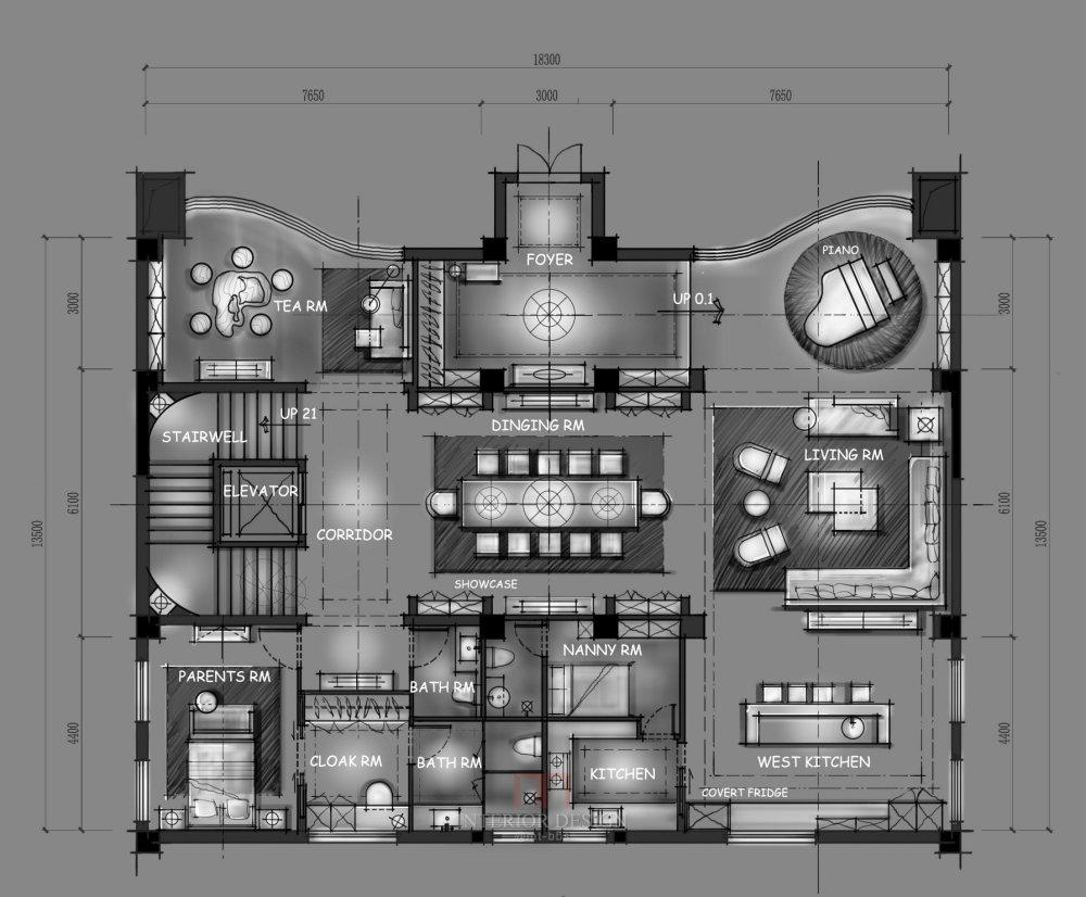 【第17期-住宅平面优化】一个跃层豪宅14个方案 投票奖励DB_10a.jpg