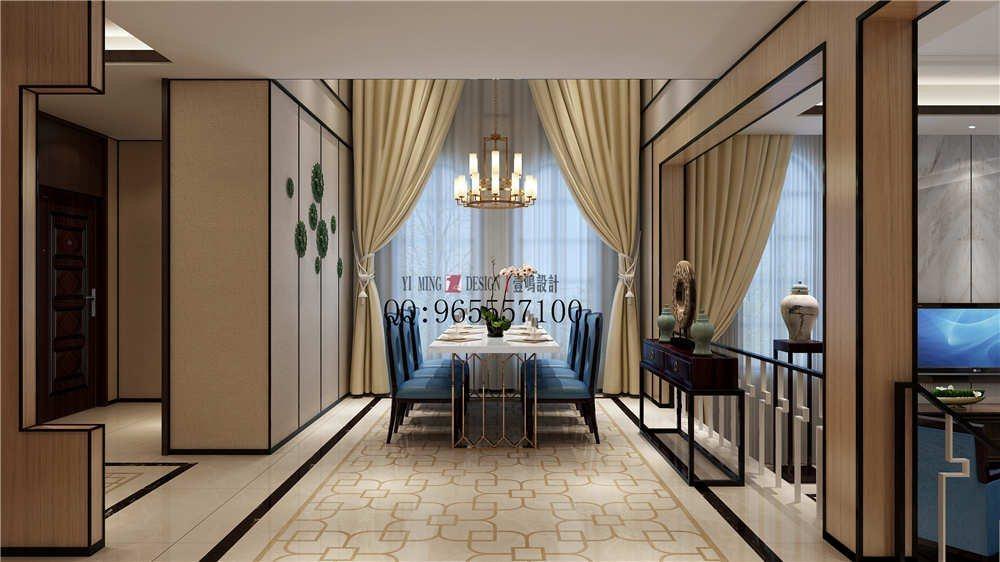 清华大溪地新中式别墅效果图方案_餐厅(小图)