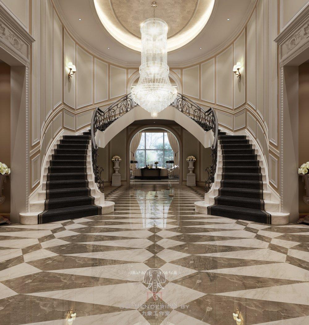 ◄◄◄最好的效果图►►►上海九象空间表现----2015 样板..._1F楼梯门厅1212改.JPG