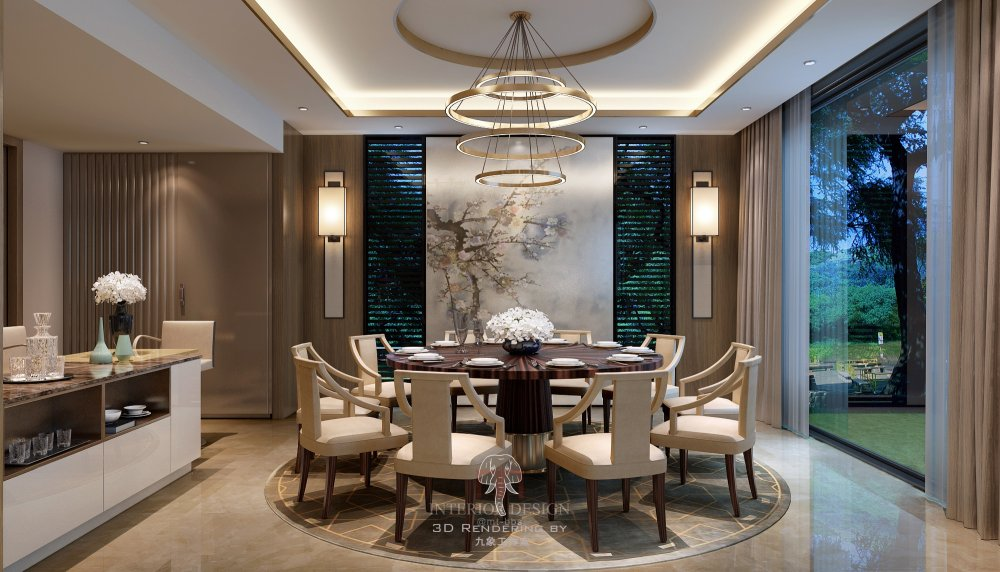◄◄◄最好的效果图►►►上海九象空间表现----2015 样板..._一层餐厅0703 副本副本.jpg