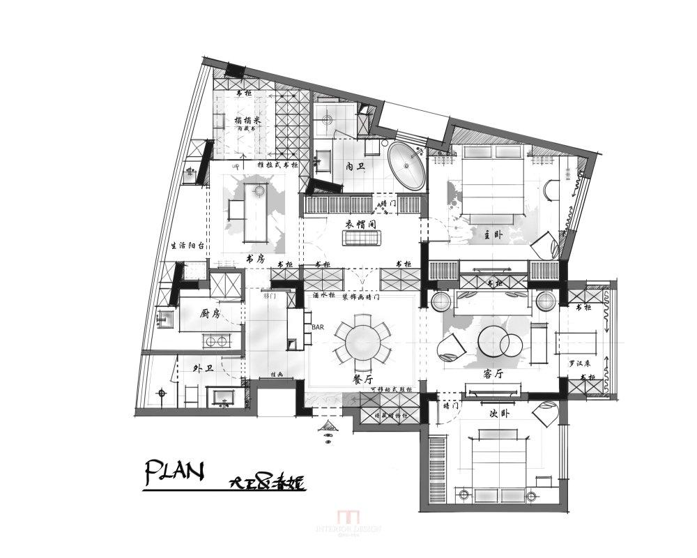 【第18期-住宅平面优化】藏书万卷的教师住宅11个方案 投票_01.jpg