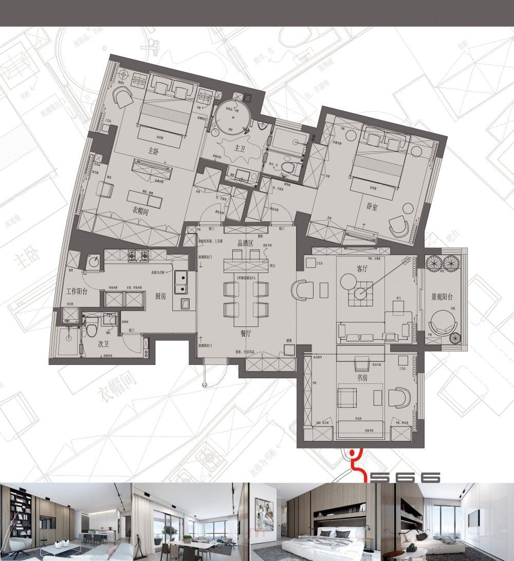 【第18期-住宅平面优化】藏书万卷的教师住宅11个方案 投票_03.jpg
