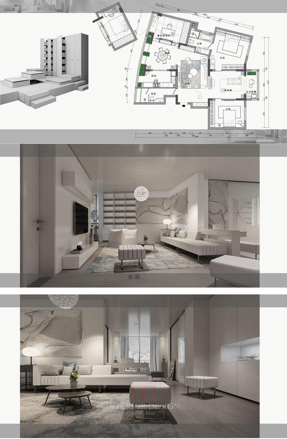 【第18期-住宅平面优化】藏书万卷的教师住宅11个方案 投票_06-1.jpg