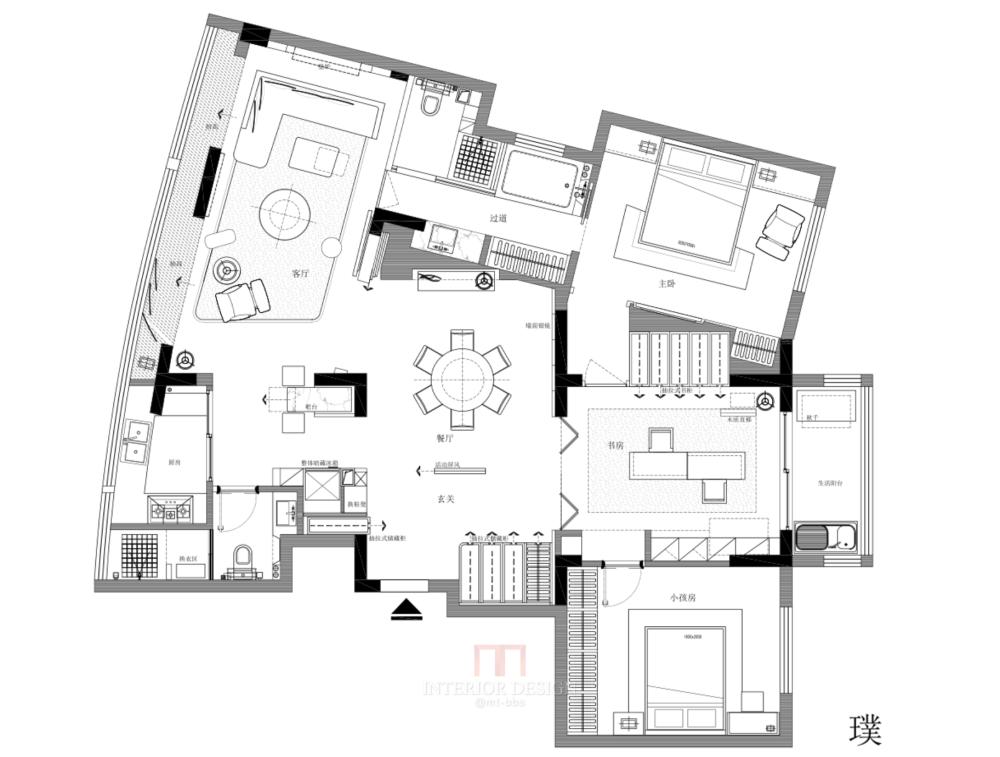 【第18期-住宅平面优化】藏书万卷的教师住宅11个方案 投票_08.png