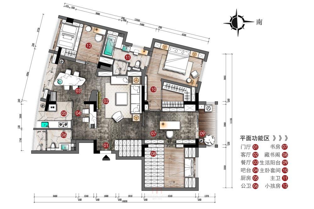 【第18期-住宅平面优化】藏书万卷的教师住宅11个方案 投票_10.jpg