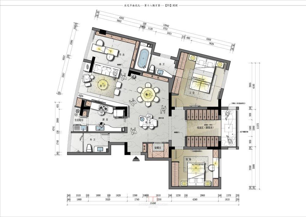 【第18期-住宅平面优化】藏书万卷的教师住宅11个方案 投票_11.jpg