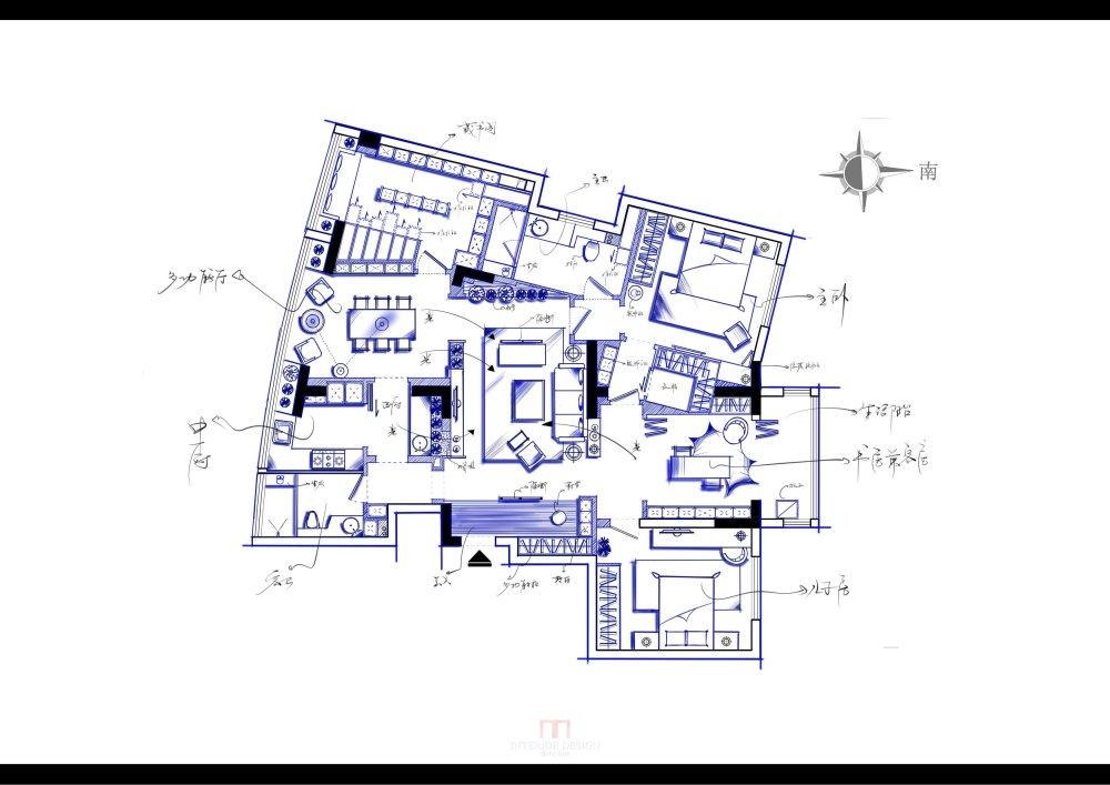 【第18期-住宅平面优化】藏书万卷的教师住宅 其余优秀方案_【11】上流.jpg