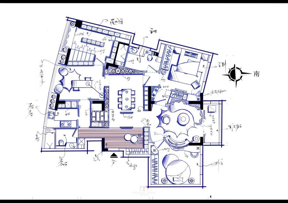 【第18期-住宅平面优化】藏书万卷的教师住宅 其余优秀方案_【7】上流.jpg