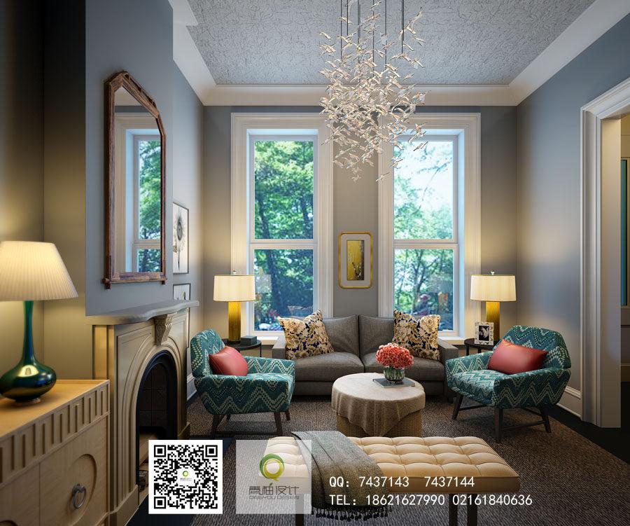 【青柚设计】完美中的完美,专业表现15载,成长颇多~_天然美式客厅.jpg