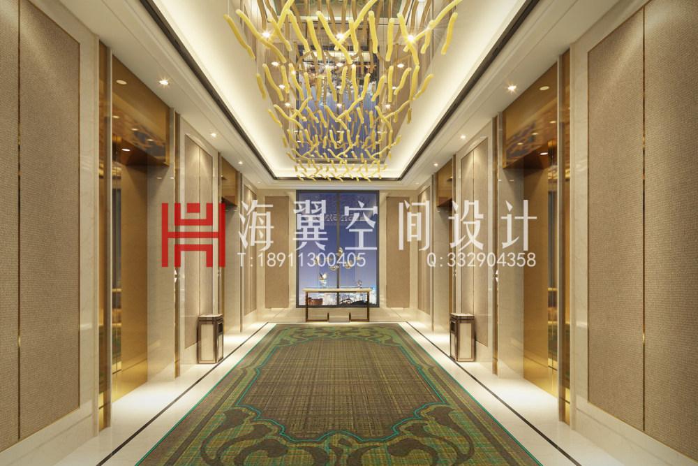 ★★海翼空间设计工装作品集★★_14办公标准电梯厅t.jpg