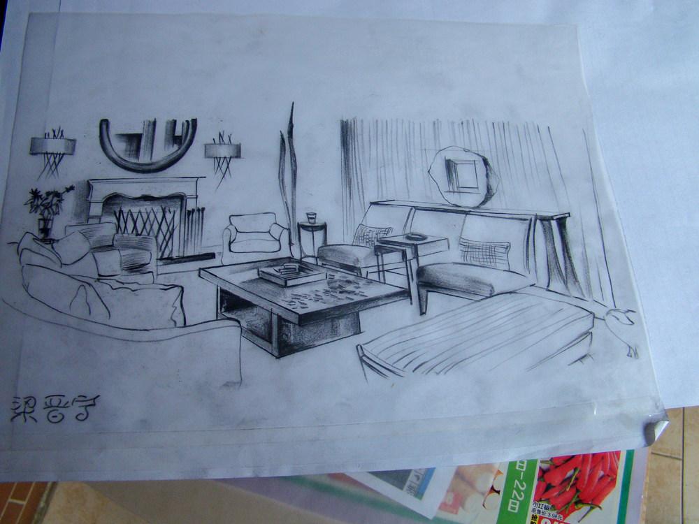 以手绘草稿的形式记录心中的想法