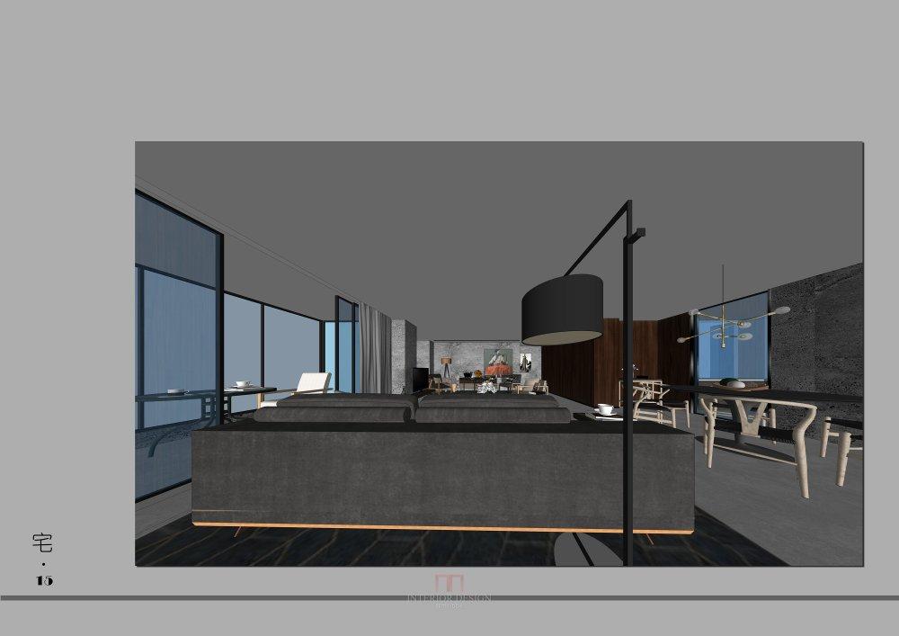 【設計宅第十五届户型活动】一个中式风格平层10组方案_4.jpg