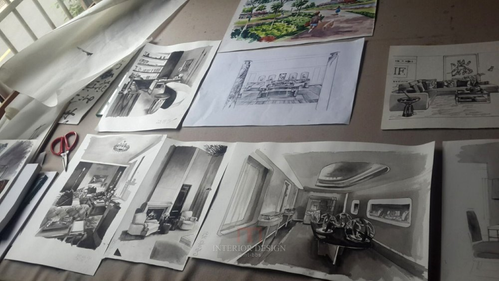 我努力着一点点的想前走,为了更好的效果,梁晋宁手绘