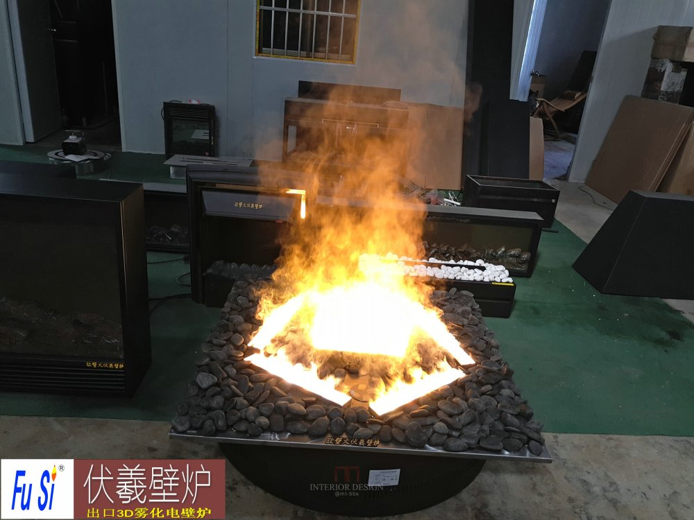 酒店婚庆伏羲3D雾电壁炉仿真篝火盆