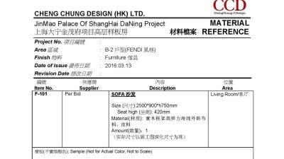 CCD大宁金茂府样板房施工图+软装方案图+物料表