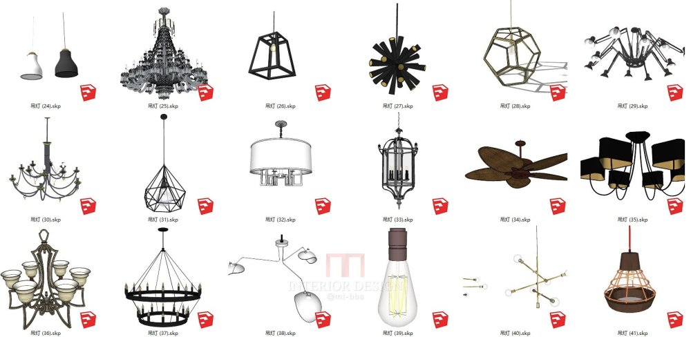 【sketchup】独家整理全高清精品灯具灯饰吊灯壁灯落地..._000灯具缩略图 (3).JPG