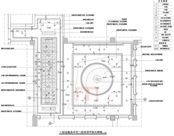 二层走廊及中空二层吊顶平面大样图.jpg