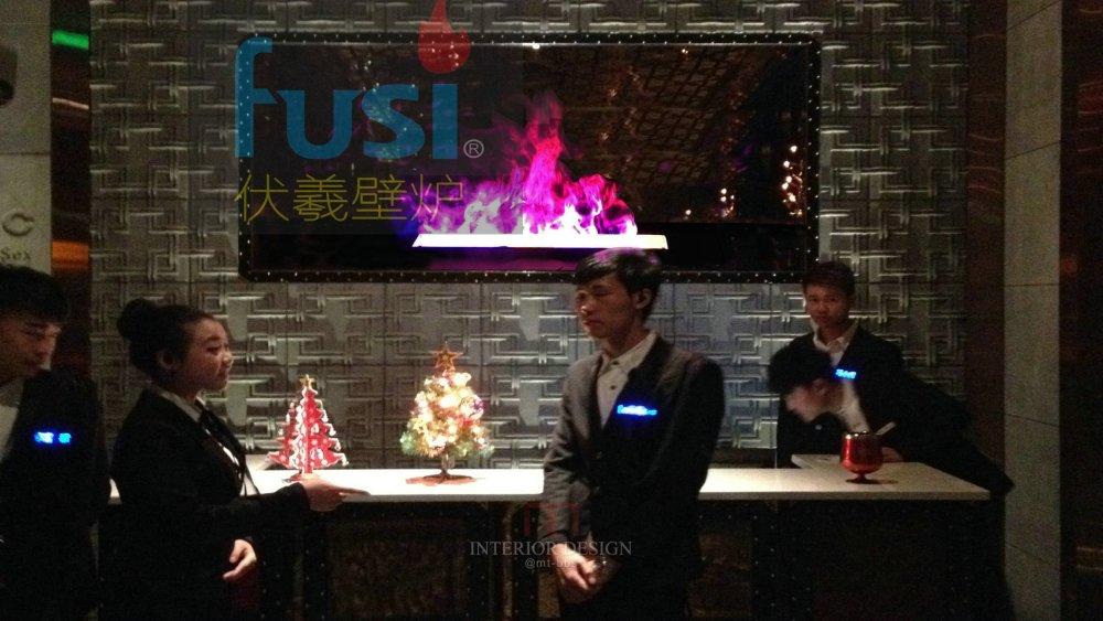 酒吧壁炉 彩色双色伏羲3d雾化壁炉