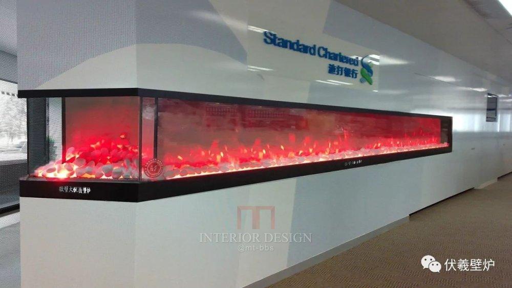 渣打银行壁炉伏羲壁炉三面火焰三色火焰电壁炉
