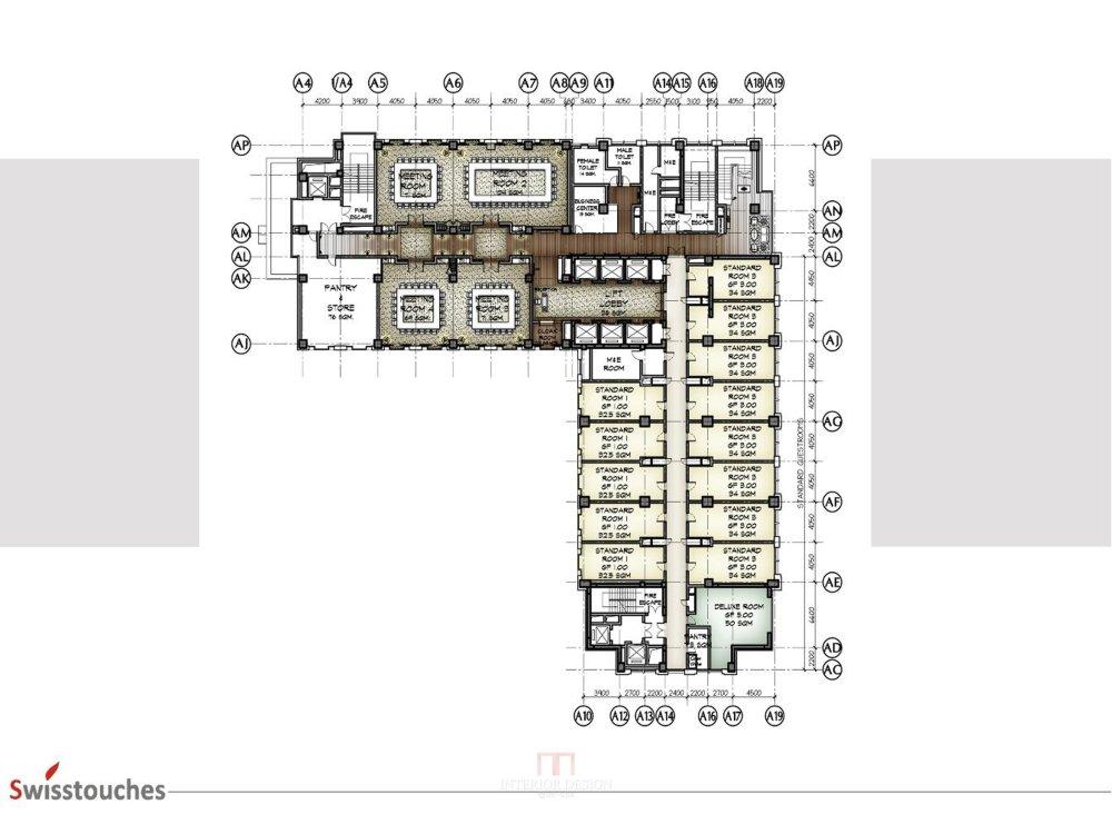 HBA-西安瑞丝利五星大酒店CAD施工图+效果图+物料表软装实..._幻灯片17.jpg