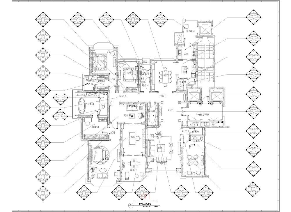 华邑设计  专业施工图深化设计_平面方案-布局3.jpg