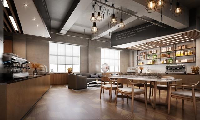 【凯悦装饰】咖啡色办公空间设计-用木色还原_办公空间设计