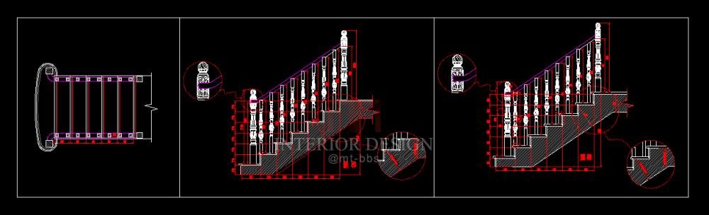 实木楼梯CAD画法_内容截图