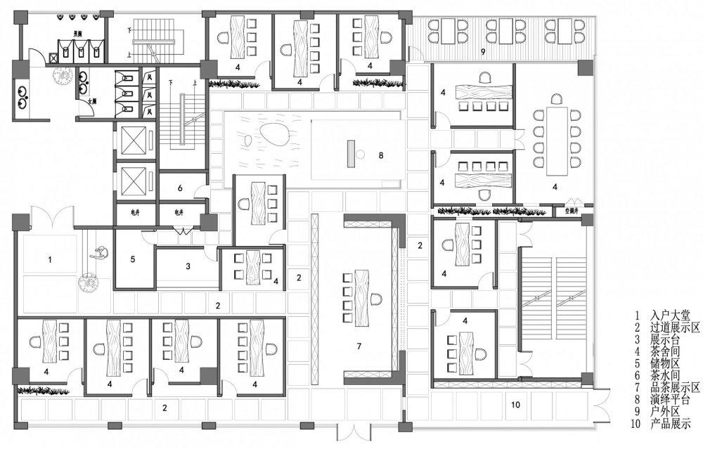 淀川设计事务所 - 自然素净的禅意空间——水之境茶馆_16.jpg